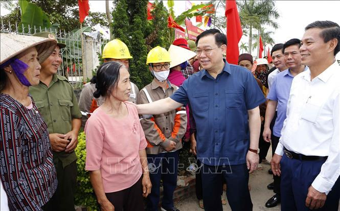 Chủ tịch Quốc hội Vương Đình Huệ kiểm tra công tác chuẩn bị bầu cử tại Hải Phòng ảnh 5