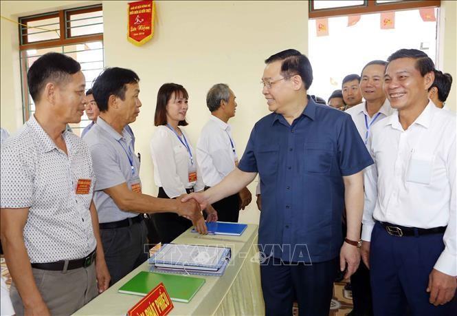 Chủ tịch Quốc hội Vương Đình Huệ kiểm tra công tác chuẩn bị bầu cử tại Hải Phòng ảnh 7