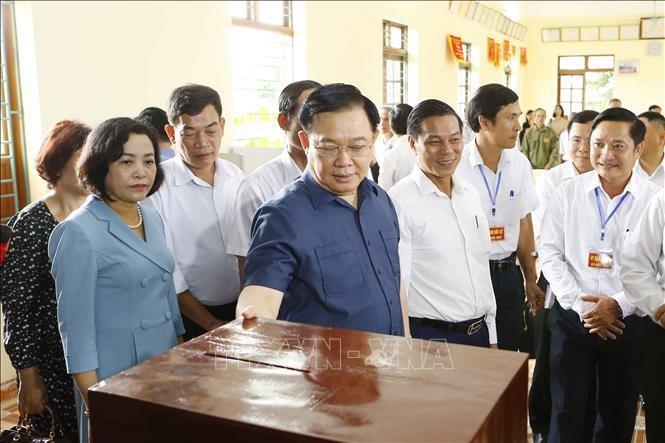 Chủ tịch Quốc hội Vương Đình Huệ kiểm tra công tác chuẩn bị bầu cử tại Hải Phòng ảnh 8