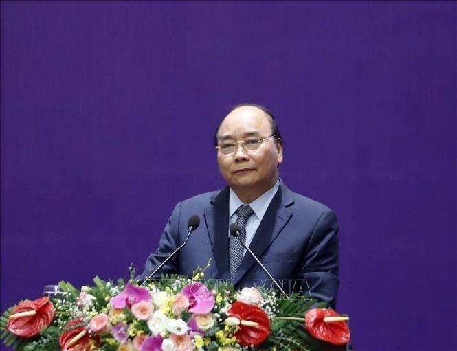 Thủ tướng Chính phủ Nguyễn Xuân Phúc, Chủ tịch Hội đồng Thi đua - Khen thưởng Trung ương. Ảnh: Thống Nhất/TTXVN