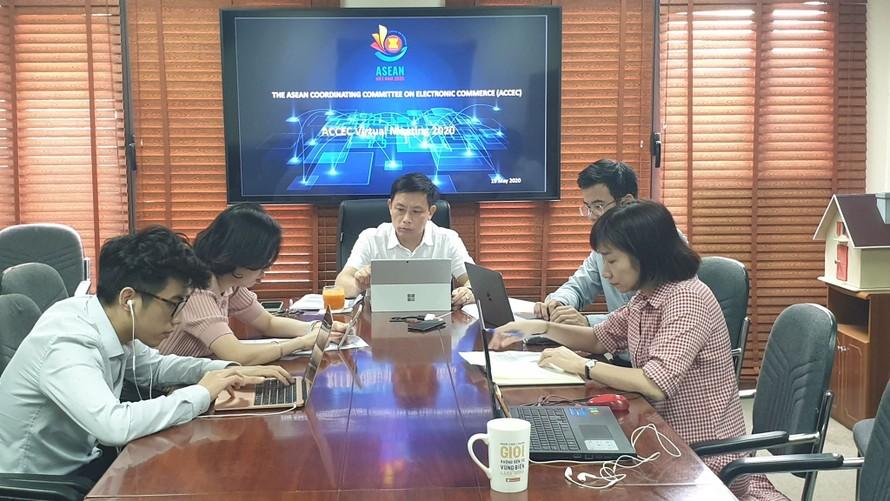 Họp trực tuyến đầu tiên của Ủy ban Điều phối Thương mại điện tử ASEAN