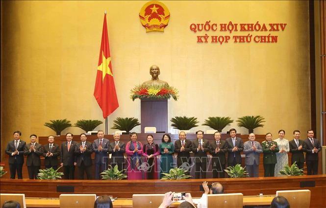 Lễ ra mắt Hội đồng bầu cử quốc gia sáng 12/6/2020. Ảnh: Doãn Tấn/TTXVN