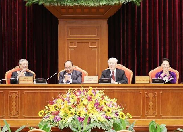 Đồng chí Tổng Bí thư, Chủ tịch nước Nguyễn Phú Trọng chủ trì Hội nghị Trung ương 10.