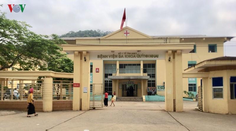 Bệnh viện Đa khoa huyện Quỳnh Nhai nơi xảy ra sự việc.