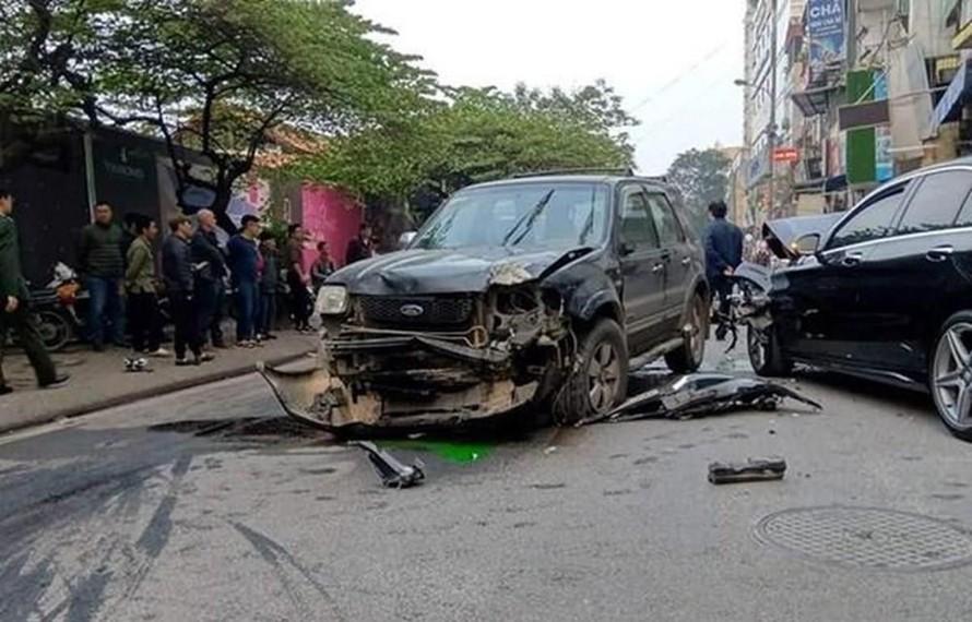 Hiện trường một vụ tai nạn giao thông. (Ảnh: Sơn Bách/Vietnam+)