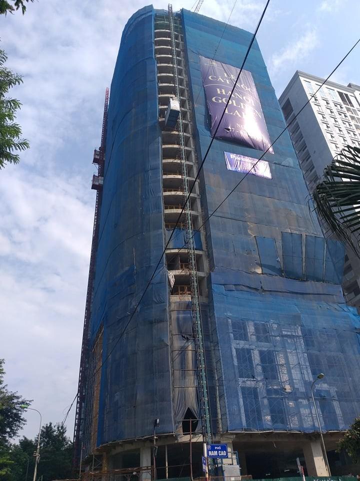 Dự án Hà Nội Golden Lake – B7 Giảng Võ (quận Ba Đình, Hà Nội) có dấu hiệu ngang nhiên xây dựng sai giấy phép và vượt tầng.