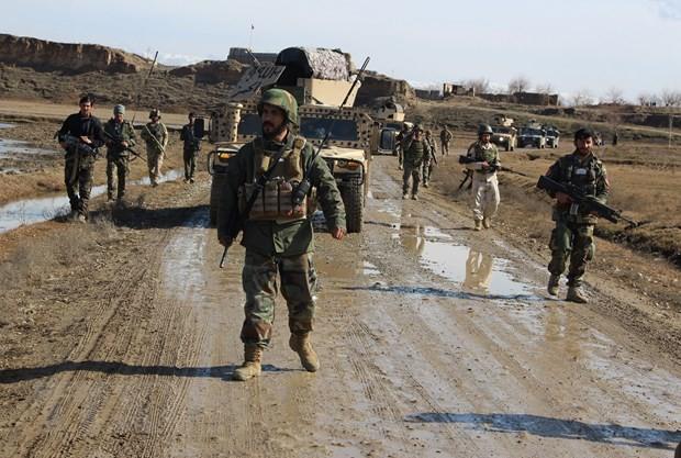 Lực lượng an ninh Afghanistan. (Nguồn: AFP/TTXVN)