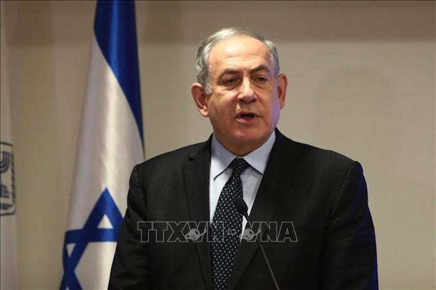 Ông Benjamin Netanyahu phát biểu tại cuộc họp báo ở Jerusalem ngày 4/3/2020. Ảnh: AFP/TTXVN
