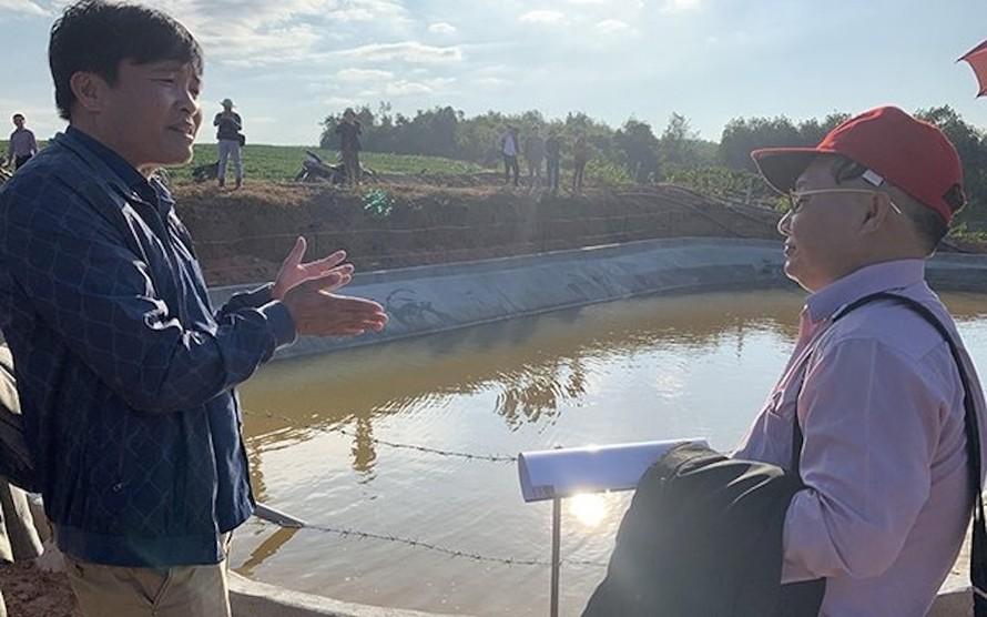 Công trình tích trữ nước phục vụ sản xuất tại huyện Đăk Tô (Kon Tum).