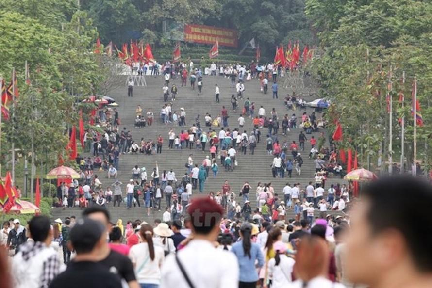 Năm nay, Giỗ Tổ Hùng Vương-lễ hội Đền Hùng không tổ chức phần hội. (Ảnh chỉ mang tính minh họa: PV/Vietnam+)