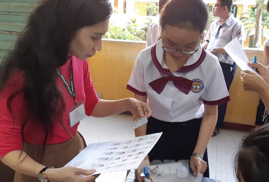 Thí sinh tham dự kỳ thi THPT QG 2019