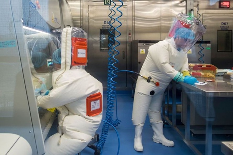 Các chuyên gia làm việc tại Viện nghiên cứu virus Vũ Hán, Trung Quốc. Ảnh: VOX.