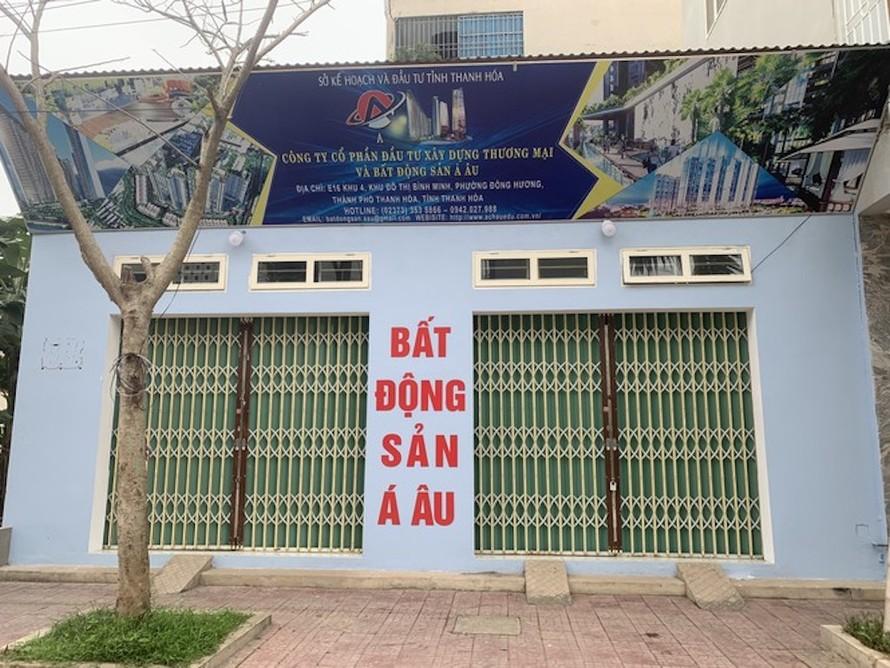 Hiện trường nơi xảy ra sự việc khiến ông Đặng Phạm Viên (Chi cục trưởng Chi cục thi hành án Tp Thanh Hoá) tử vong