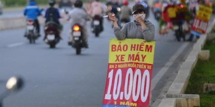Bảo hiểm xe máy được rao bán với giá rẻ bất ngờ. (Ảnh minh họa)