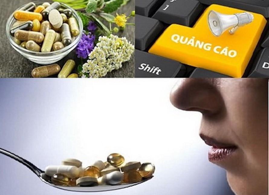 Nhiều loại thực phẩm bảo vệ sức khỏe vi phạm quy định về quảng cáo không đúng bản chất, lừa dối người tiêu dùng.