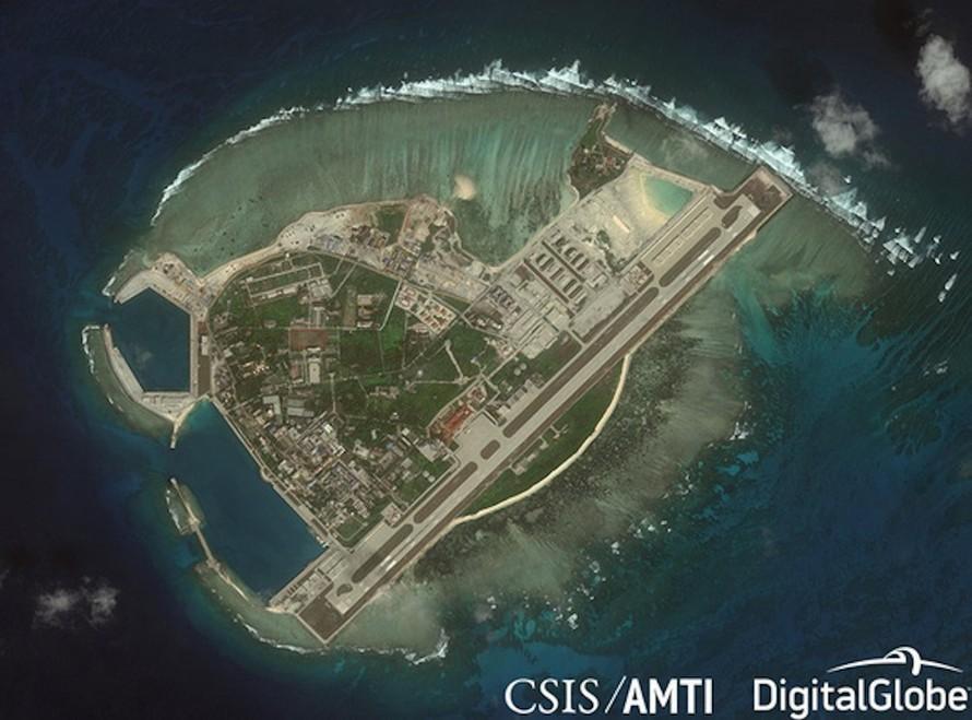 Đảo Phú Lâm thuộc quần đảo Hoàng Sa của Việt Nam bị Trung Quốc dùng vũ lực chiếm đóng và cải tạo bất hợp pháp