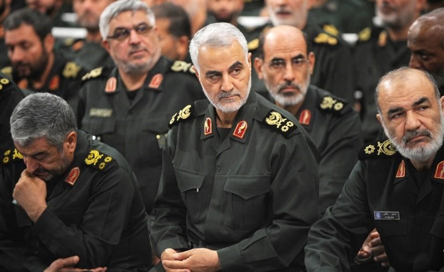Tướng Qassem Soleimani (giữa) đã bị Mỹ không kích sát hại hồi tháng 1/2020.