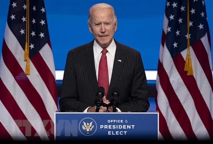 Ông Joe Biden phát biểu sau cuộc họp với các Thống đốc bang lưỡng đảng tại Wilmington, bang Delaware ngày 19/11/2020. (Ảnh: AFP/TTXVN)