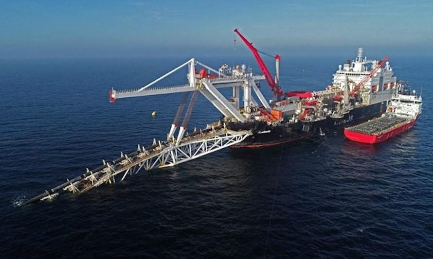 Công trình xây dựng đường ống thuộc dự án Dòng chảy phương Bắc.
