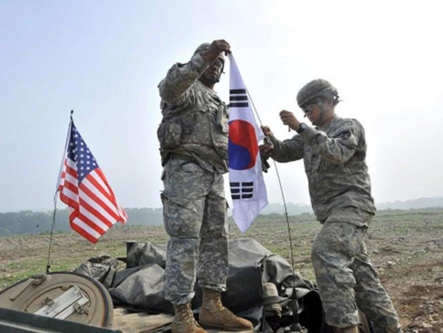 Lực lượng quân đội Mỹ đồn trú tại Hàn Quốc.