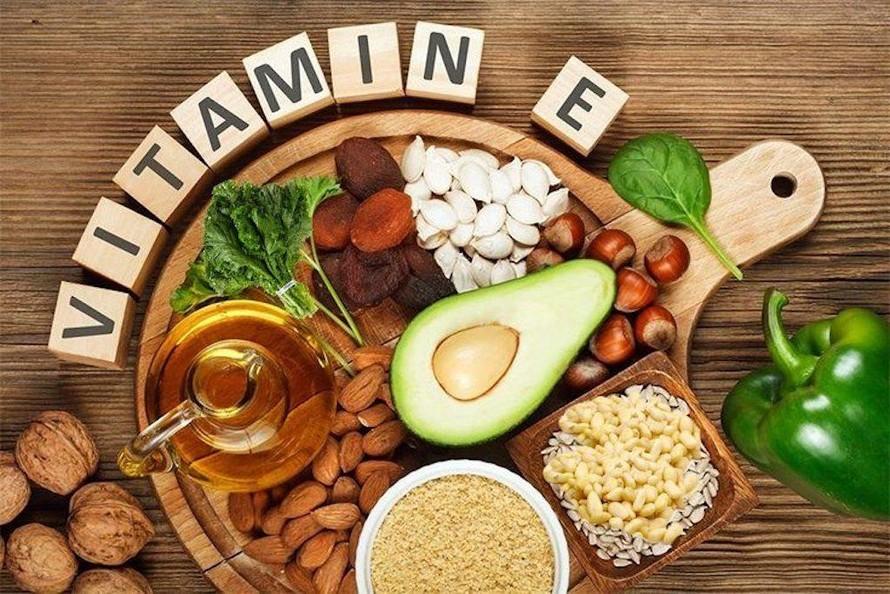 Nhóm thực phẩm giàu vitamin E.