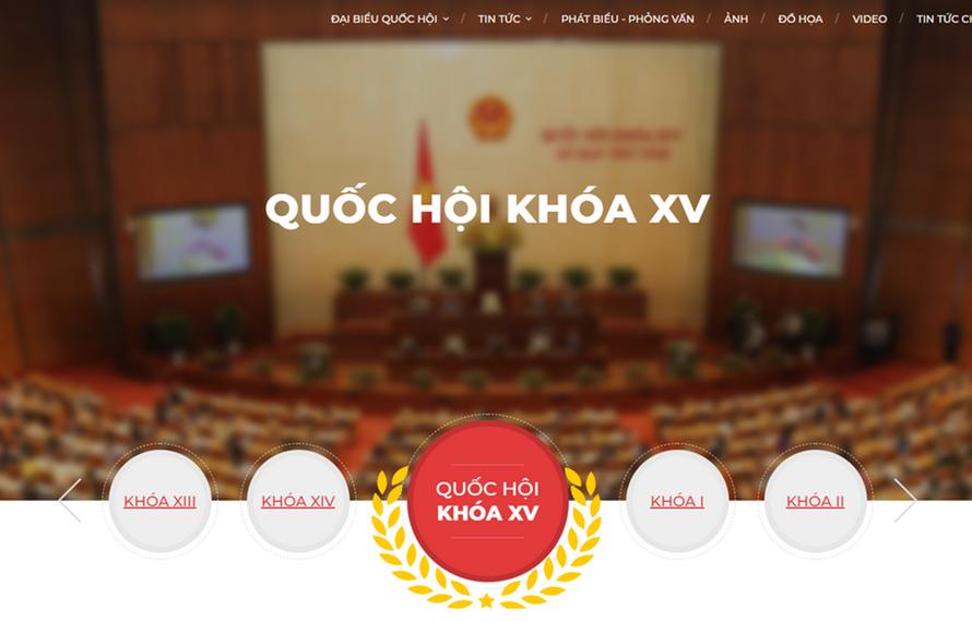 Giao diện trang thông tin đặc biệt về bầu cử của TTXVN.