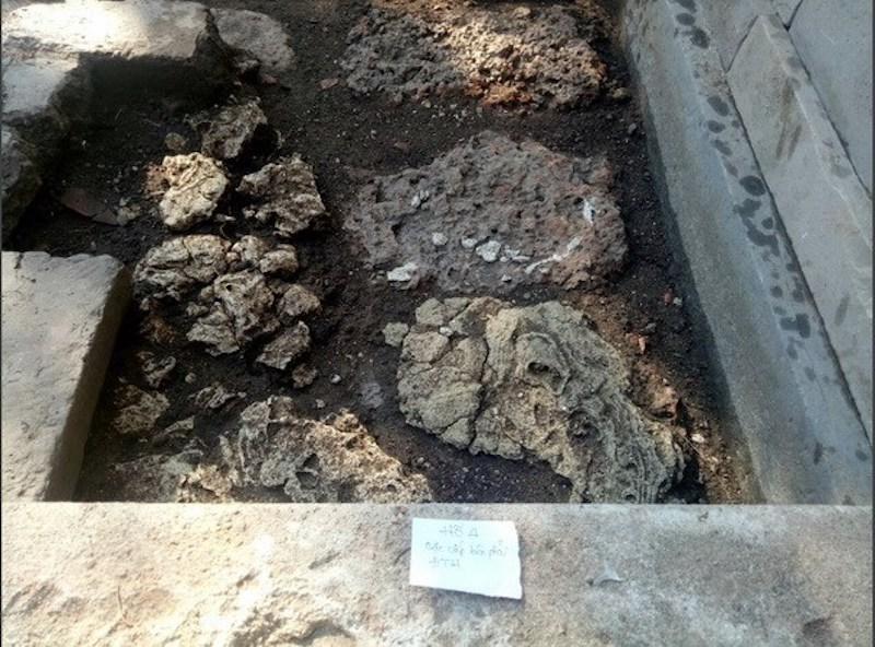 Di sản cung đình Huế: Xuất hiện hệ thống đá ong ở điện Thái Hoà