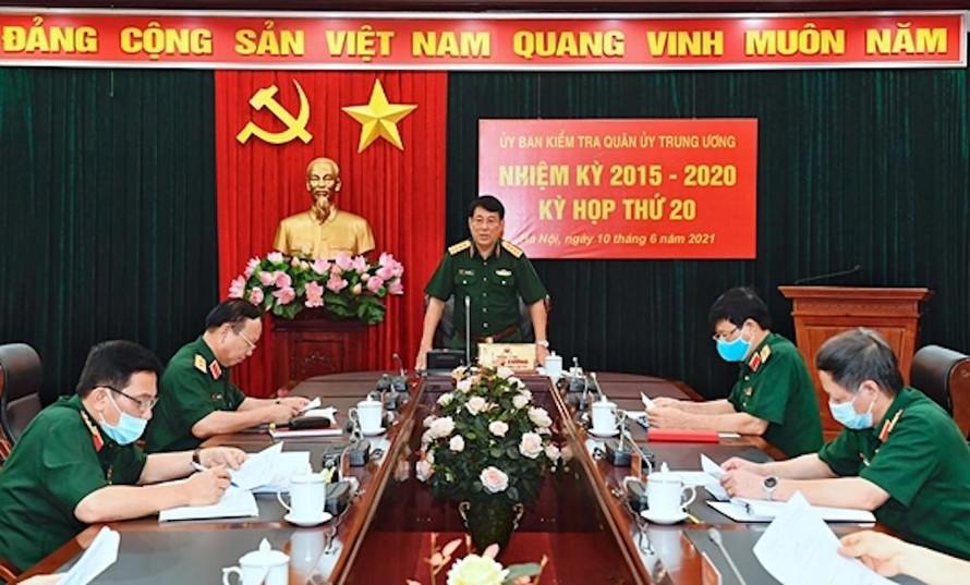Đại tướng Lương Cường chủ trì kỳ họp lần thứ 20, Ủy ban Kiểm tra Quân ủy Trung ương nhiệm kỳ 2015-2020.