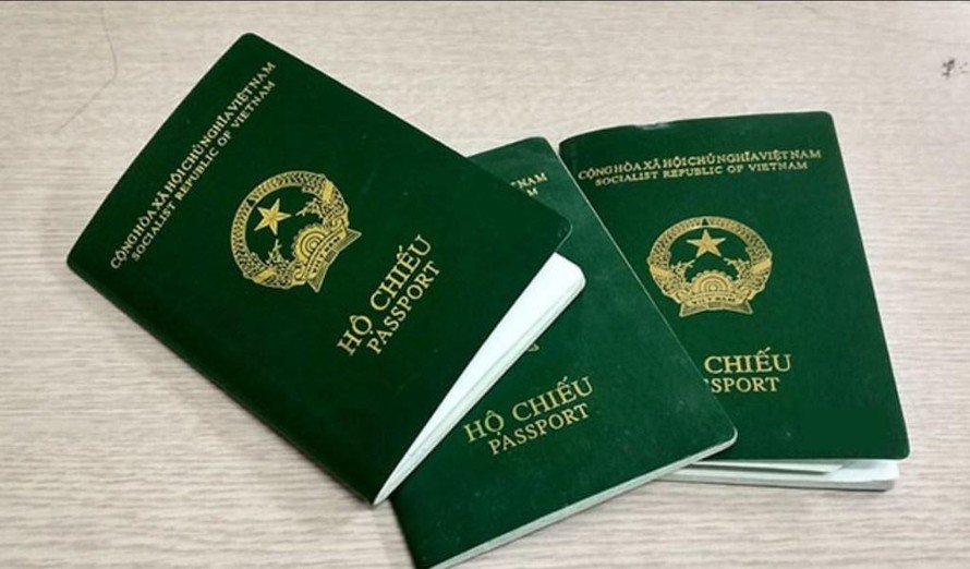 Mẫu hộ chiếu không gắn chíp.