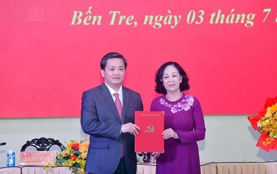 Chủ tịch VietinBank được điều động làm Bí thư Tỉnh uỷ Bến Tre
