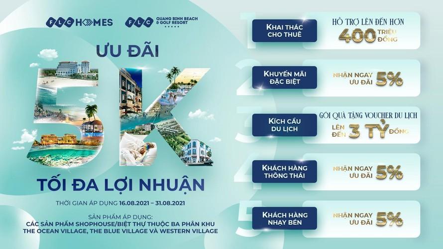 Đại dự án FLC Quảng Bình tung ưu đãi 5K, tối đa lợi nhuận cho nhà đầu tư