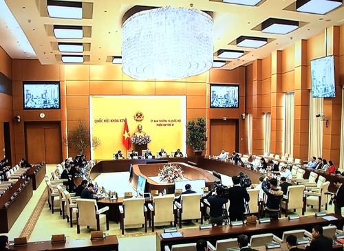 Phiên họp thứ 41 của Ủy ban Thường vụ Quốc hội diễn ra trong 1,5 ngày. Ảnh: VGP/Nguyễn Hoàng
