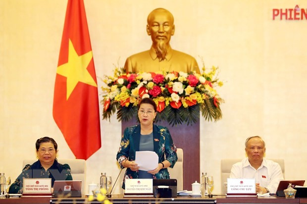 Chủ tịch Quốc hội Nguyễn Thị Kim Ngân phát biểu khai mạc. (Ảnh: Trọng Đức/TTXVN)