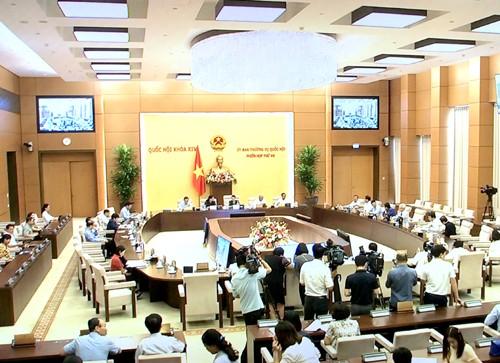Sau 2 ngày làm việc, Phiên họp thứ 46 của UBTVQH đã hoàn thành các nội dung chương trình đề ra và bế mạc vào chiều 14/7. Ảnh: VGP/Nguyễn Hoàng