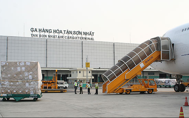 Nhà ga hàng hóa khu vực sân bay Tân Sơn Nhất.