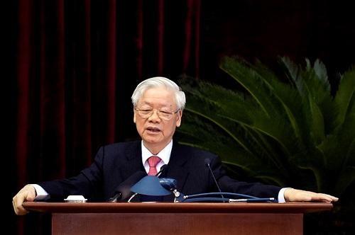 Tổng Bí thư, Chủ tịch nước Nguyễn Phú Trọng phát biểu bế mạc Hội nghị - Ảnh: VGP/Nhật Bắc