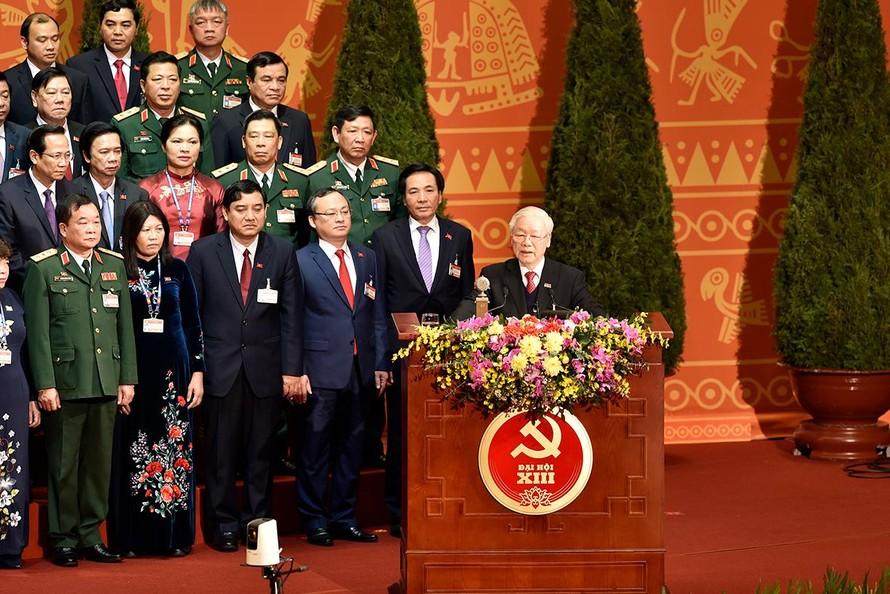 Tổng Bí thư, Chủ tịch nước Nguyễn Phú Trọng phát biểu tại lễ bế mạc - Ảnh: VGP/Nhật Bắc