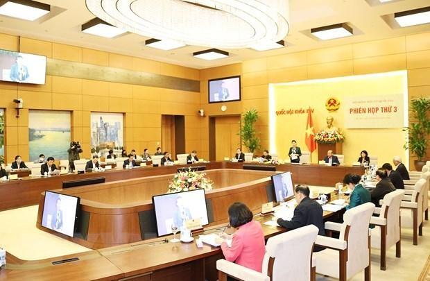 Phiên họp thứ 3 Hội đồng Bầu cử Quốc gia. (Ảnh: Trọng Đức/TTXVN)