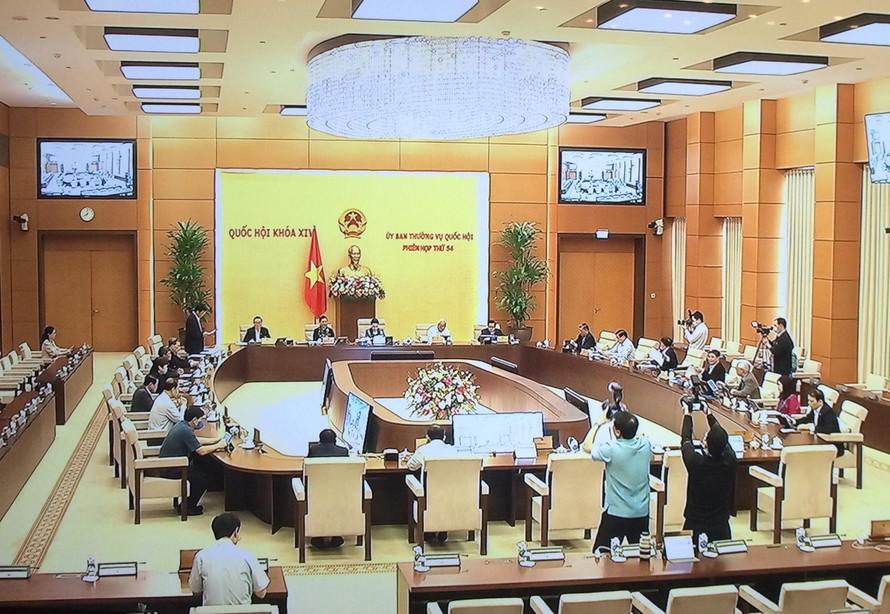 Phiên họp thứ 54 của Ủy ban Thường vụ Quốc hội khai mạc sáng nay (15/3) tại Nhà Quốc hội - Ảnh: VGP