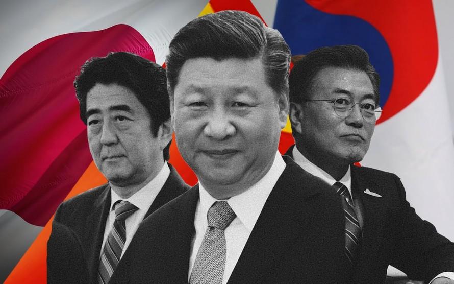 Nguyên thủ quốc gia ba nước Nhật Bản, Trung Quốc và Hàn Quốc. (Ảnh: Tokyo Review)