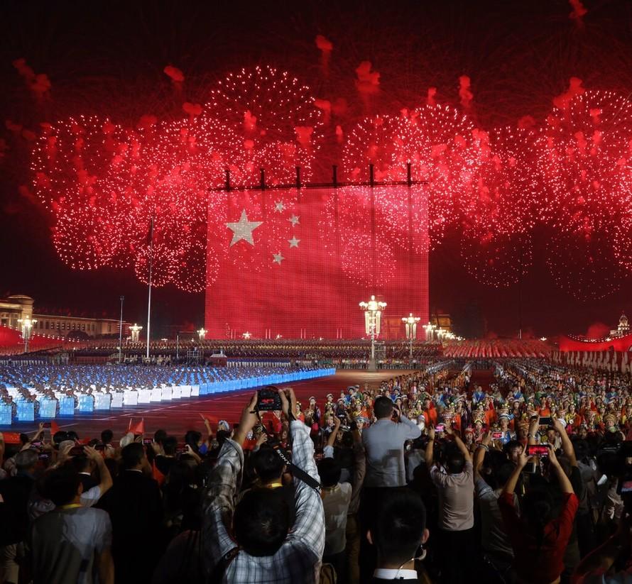 Lễ kỷ niệm 70 năm ngày thành lập nước Cộng hòa Nhân dân Trung Hoa tại Quảng trường Thiên An Môn, Bắc Kinh, ngày 1/10/2019. (Ảnh: New York Times)