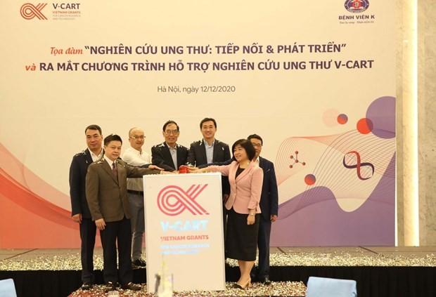 Chương trình hỗ trợ nghiên cứu và công nghệ trong ung thư đã chính thức ra mắt. (Ảnh: PV/Vietnam+)