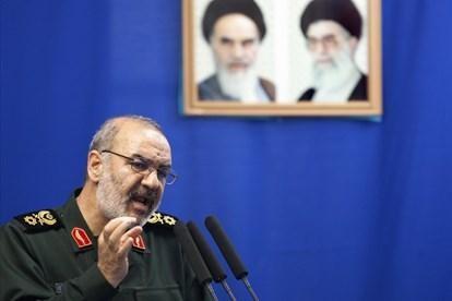 Tướng Hossein Salami, người đứng đầu lực lượng Vệ binh Cách mạng Iran. (Ảnh: Reuters)