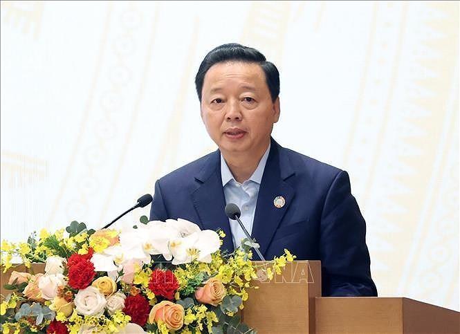 Bộ trưởng Bộ Tài nguyên và Môi trường Trần Hồng Hà. Ảnh: TTXVN.