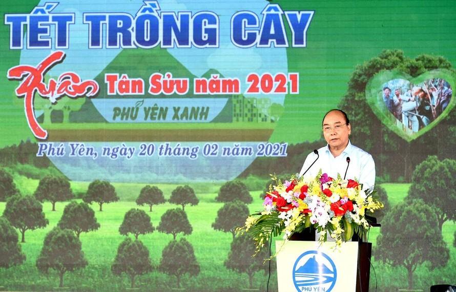 """Thủ tướng: """"Vì một Việt Nam xanh"""" là thông điệp chính của Chương trình 1 tỷ cây xanh. (Ảnh: Báo Công lý)"""