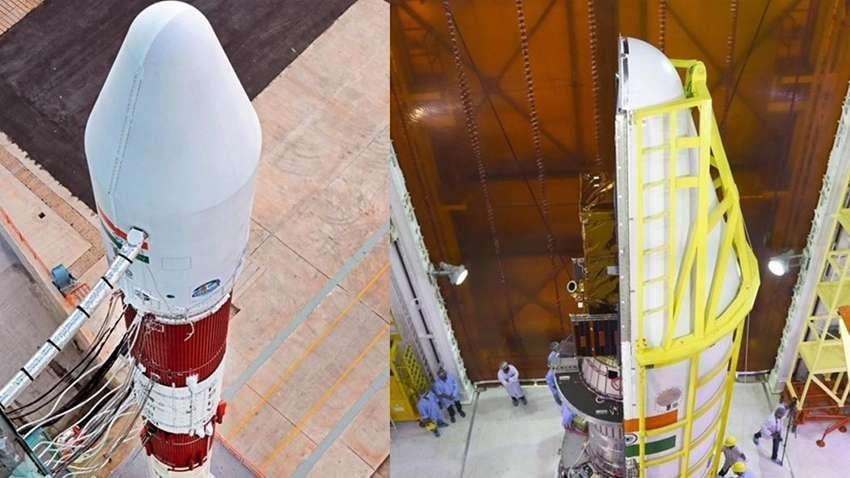 Tên lửa PSLV rời bệ phóng lúc 10 giờ 24 phút sáng 28/2. Ảnh: zeebiz.com