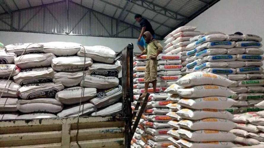 2 tháng đầu năm 2021, xuất khẩu gạo của Campuchia chỉ đạt 76.222 tấn. (Ảnh: VOV)