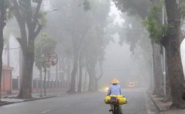 Hà Nội có mưa nhỏ vài nơi, sáng sớm có sương mù. Ảnh minh họa