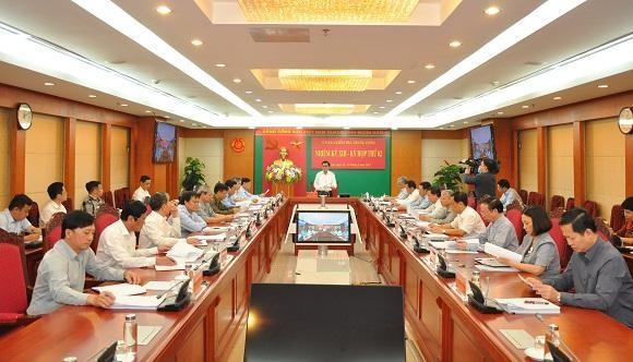 Quang cảnh kỳ họp thứ 2 của Ủy ban Kiểm tra Trung ương khóa XIII