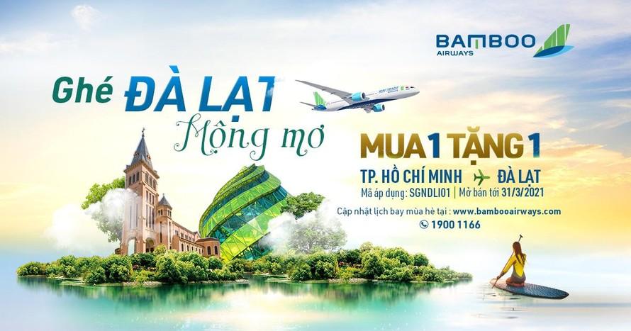 """Bamboo Airways tung loạt ưu đãi """"kép"""" cho khách bay thẳng TP HCM – Đà Lạt"""